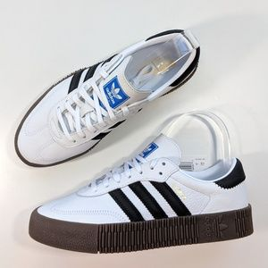 NEW Adidas Sambarose Cloud White/Core Black/Gum